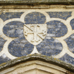 A detail of the flushwork on the Butley Priory gatehouse, dating from c.1310-23