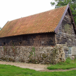 Farm building with a pantiled roof in the South Elmhams